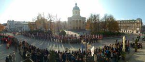 Kulminacyjny moment na Placu Konstytucji 3 Maja