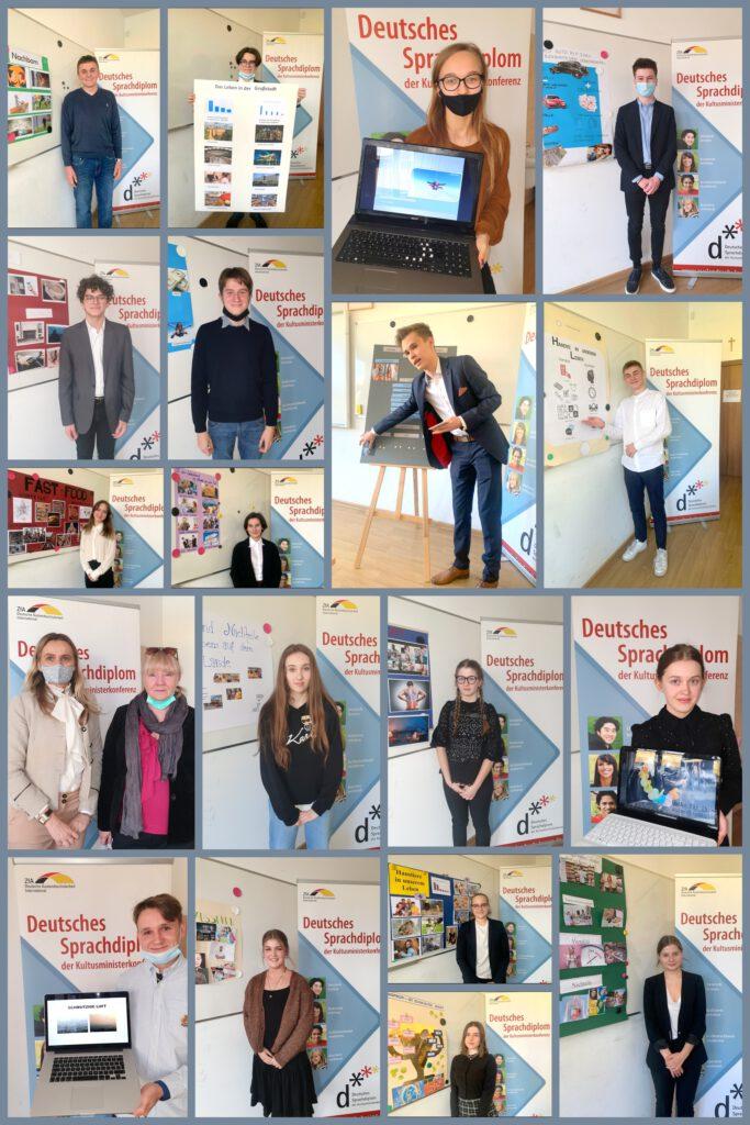 Collage ze zdjęciami z egzaminu DSD I